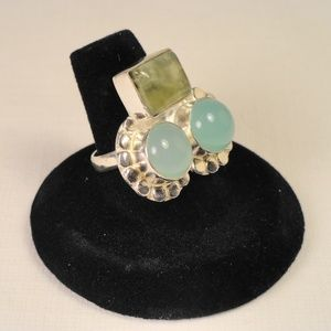 Jewelry - Chalcedony & Moss Agate multi stone gemstone Ring